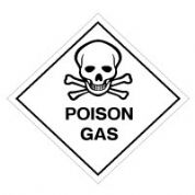 Hazard safety sign - Poison Gas 058